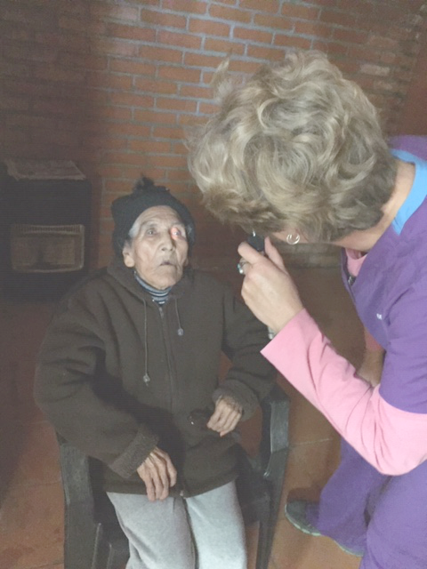 100 year old patient is examined